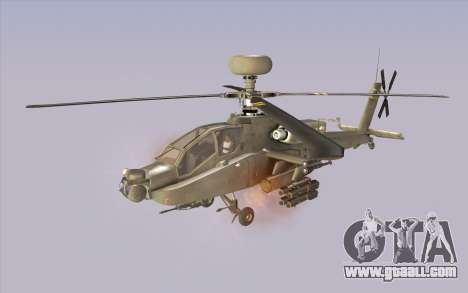 AH-64D Longbow Apache for GTA San Andreas back left view