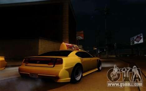 Buffalo Taxi for GTA San Andreas inner view