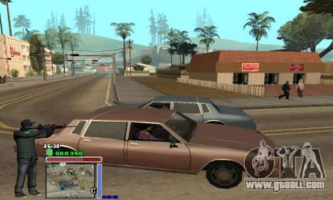 C-HUD Grove by Krutoyses for GTA San Andreas second screenshot