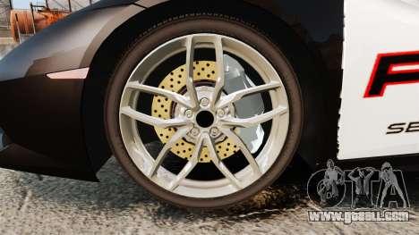 Lamborghini Huracan Cop [Non-ELS] for GTA 4 back view