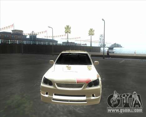 Lexus IS300 Tuneable for GTA San Andreas left view