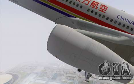 Airbus A340-300 China Eastern for GTA San Andreas right view