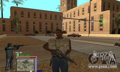 C-HUD Grove by Krutoyses for GTA San Andreas third screenshot