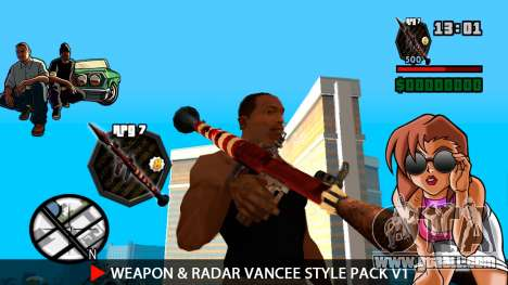 Weapon & Radar VanCee Style Pack v1 for GTA San Andreas ninth screenshot