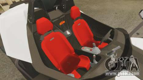 KTM X-Bow R for GTA 4 inner view
