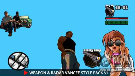 Weapon & Radar VanCee Style Pack v1 for GTA San Andreas forth screenshot