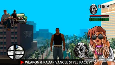 Weapon & Radar VanCee Style Pack v1 for GTA San Andreas second screenshot