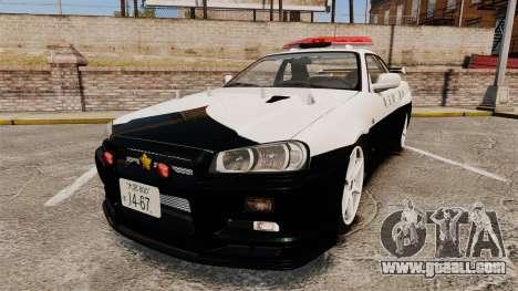 Nissan Skyline GT-R R34 Saitama Police for GTA 4