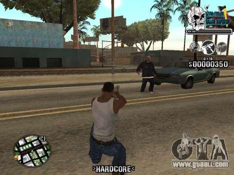 C-HUD Hardcore By KD for GTA San Andreas forth screenshot