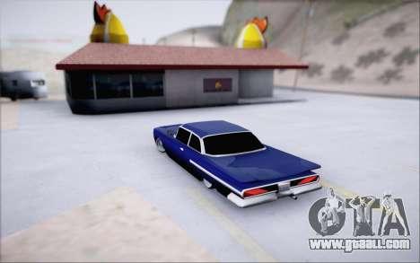 Voodoo Low Car v.1 for GTA San Andreas back view