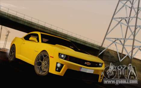 Chevrolet Camaro ZL1 2011 for GTA San Andreas side view
