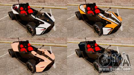 KTM X-Bow R for GTA 4 side view