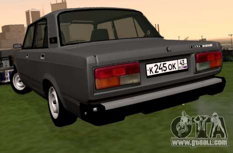 VAZ-2107 for GTA San Andreas back left view