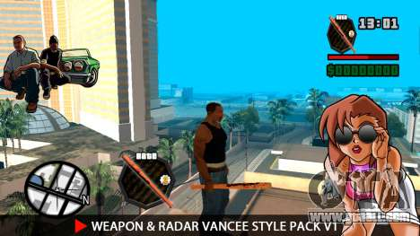 Weapon & Radar VanCee Style Pack v1 for GTA San Andreas third screenshot