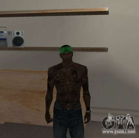 New bandanas for CJ for GTA San Andreas