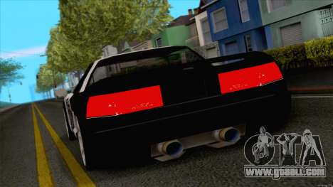 Infernus Police for GTA San Andreas back left view