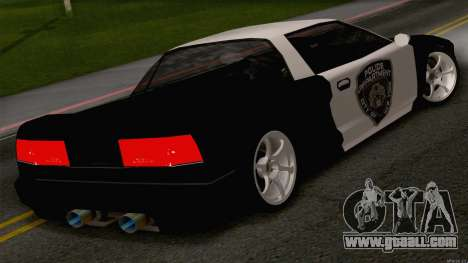 Infernus Police for GTA San Andreas left view