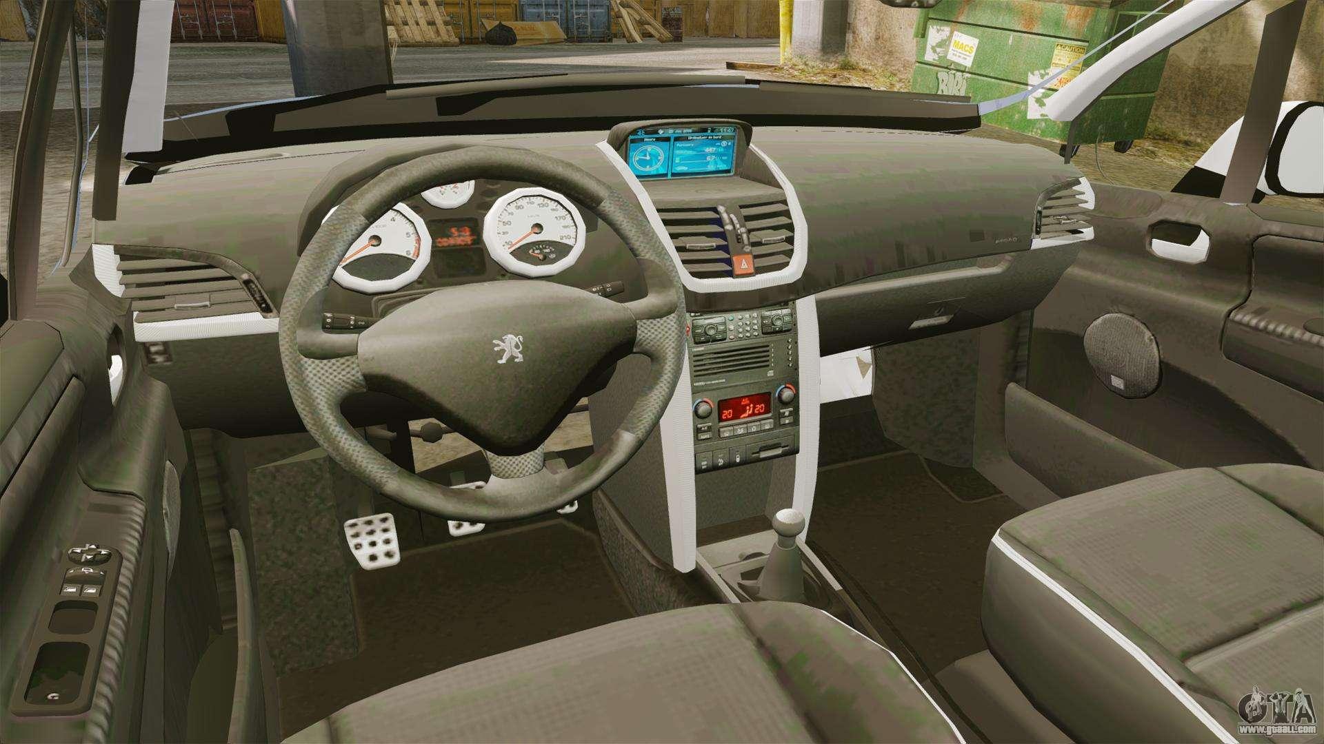 Peugeot 207 rc for gta 4 for Peugeot 207 interior