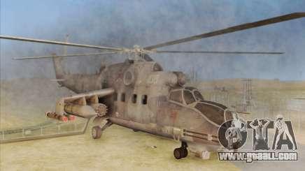 Mi-24D Hind from Modern Warfare 2 for GTA San Andreas