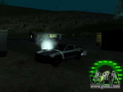 The speedometer in the style of a neon for GTA San Andreas third screenshot