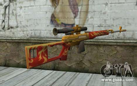 The Dragunov Sniper's Rifle (Point Blank) for GTA San Andreas second screenshot