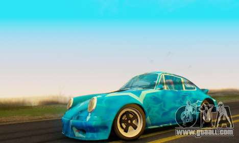 Porsche 911 Blue Star for GTA San Andreas back left view