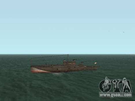 Torpedo boat type G-5 for GTA San Andreas inner view