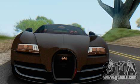 Bugatti Veyron Super Sport 2011 for GTA San Andreas inner view