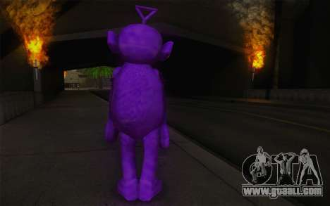 Casting roughcast-Winky of the Teletubbies for GTA San Andreas second screenshot