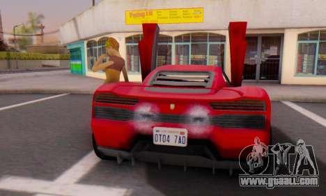 Pegassi Vacca for GTA San Andreas back view