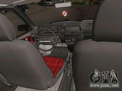 VAZ-21093 for GTA San Andreas inner view