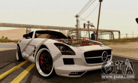 Mercedes SLS AMG Hamann 2010 Metal Style for GTA San Andreas back left view