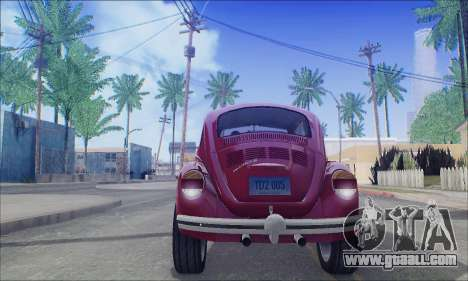 1973 Volkswagen Beetle for GTA San Andreas back view