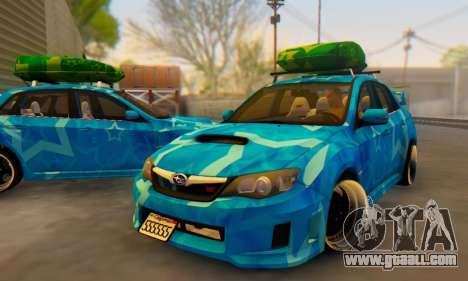 Subaru Impreza Blue Star for GTA San Andreas interior