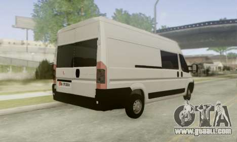 Fiat Ducato Ekip Otosu for GTA San Andreas back left view