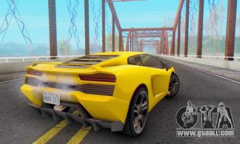 Pegassi Vacca for GTA San Andreas bottom view
