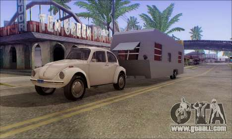 The Caravan Trailer for GTA San Andreas back left view