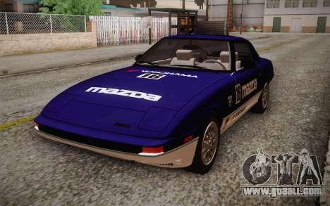 Mazda RX-7 GSL-SE 1985 HQLM for GTA San Andreas right view