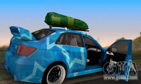 Subaru Impreza Blue Star for GTA San Andreas upper view