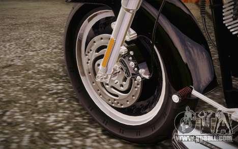 Harley-Davidson Fat Boy Lo 2010 for GTA San Andreas inner view