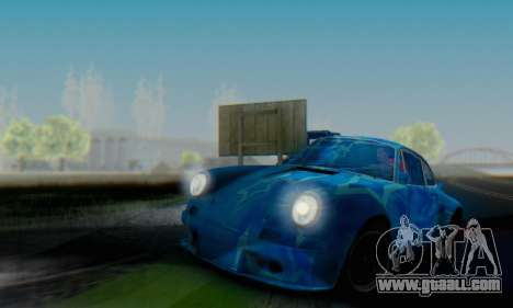 Porsche 911 Blue Star for GTA San Andreas back view