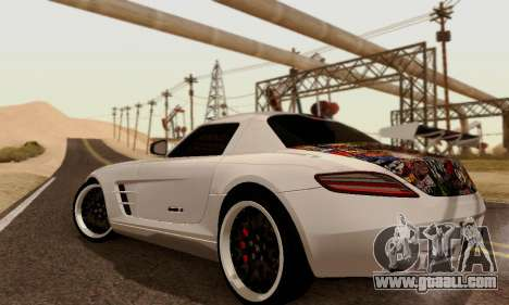 Mercedes SLS AMG Hamann 2010 Metal Style for GTA San Andreas right view