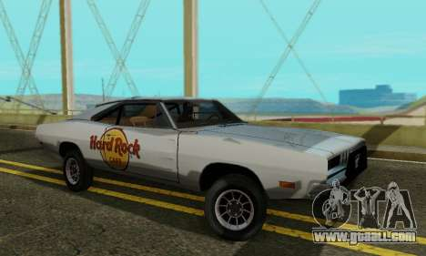 Dodge Charger 1969 Hard Rock Cafe for GTA San Andreas left view