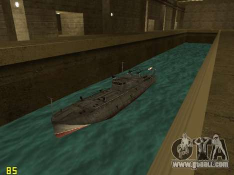 Torpedo boat type G-5 for GTA San Andreas back view