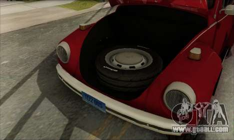1973 Volkswagen Beetle for GTA San Andreas bottom view