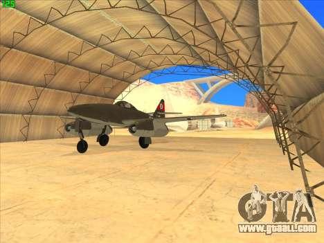Messerschmitt Me.262 Schwalbe for GTA San Andreas