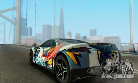 GTA Spano 2014 IVF for GTA San Andreas interior