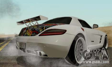 Mercedes SLS AMG Hamann 2010 Metal Style for GTA San Andreas back view