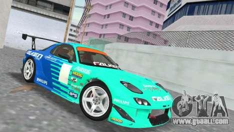 Mazda RX7 FD3S RE Amamiya Falken for GTA Vice City