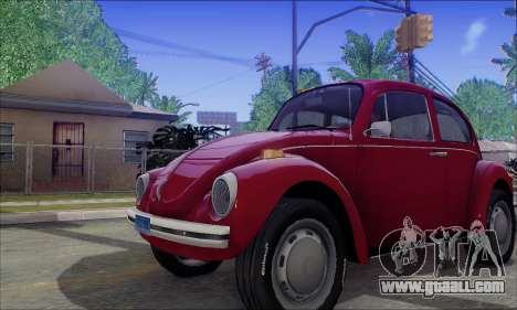 1973 Volkswagen Beetle for GTA San Andreas inner view